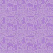 Zoo Animals in Purple