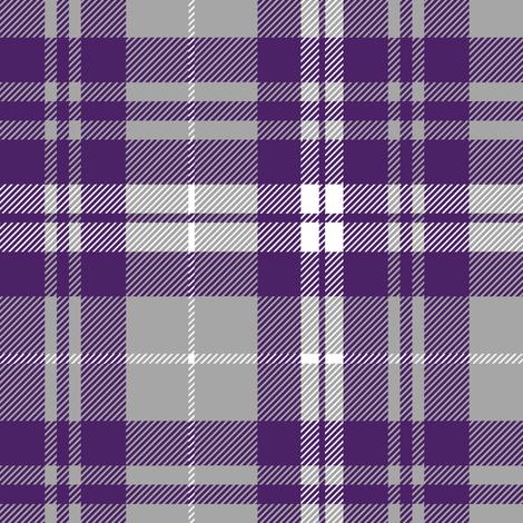 fall plaid - dark purple, white, grey - fearfully and wonderfully made coordinate fabric by littlearrowdesign on Spoonflower - custom fabric