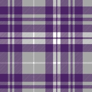 fall plaid - dark purple, white, grey - fearfully and wonderfully made coordinate