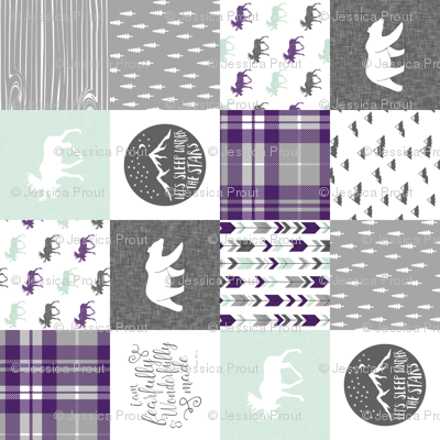 fearfully and wonderfully made (90) - dark purple and mint