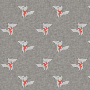 fox in love grey