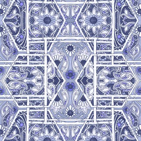 Nouveau Flower Blues fabric by edsel2084 on Spoonflower - custom fabric