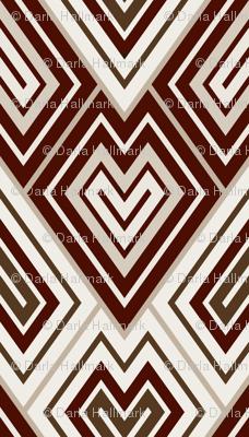Kilim leaf pattern, brown