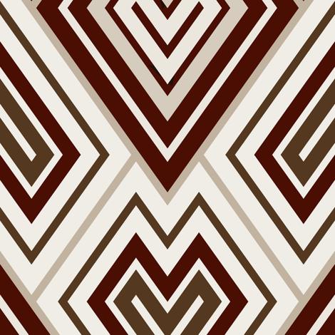Kilim leaf pattern, brown fabric by hannafate on Spoonflower - custom fabric