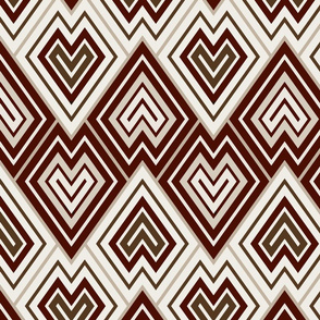 Kilim leaf pattern, brown