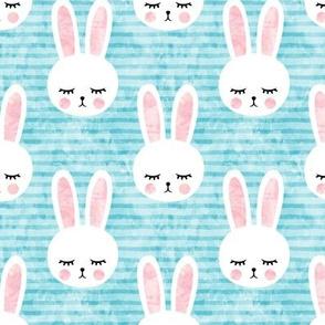 bunny on light blue (sleepy bunny)