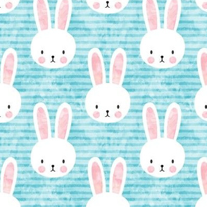 bunny on light blue