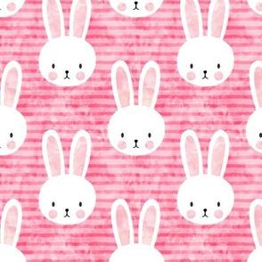 bunny on dark pink