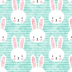 bunnies on aqua