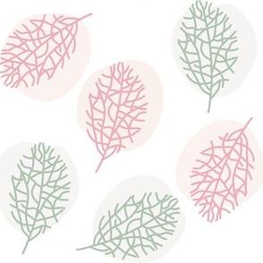 Winter leaves pattern