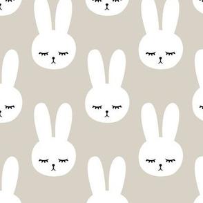 bunnies on beige
