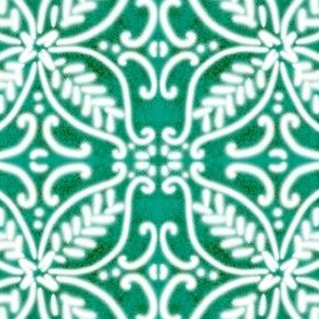 Spanish Tile N2 (Pantone Arcadia Green) reversed