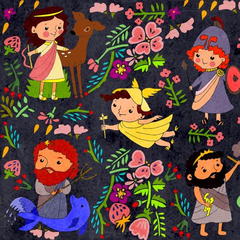 Greek chaos  fabric by potyautas on Spoonflower - custom fabric