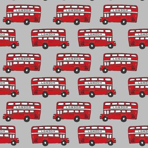 london bus // england tourist double decker bus iconic fabric grey