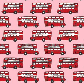 london bus // england tourist double decker bus iconic fabric red pink