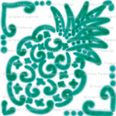 Spanish Tile N6 Pineapple (Pantone Arcadia Green)