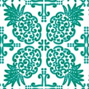 Spanish Tile N6 Pineapple (Pantone Arcadia Green)