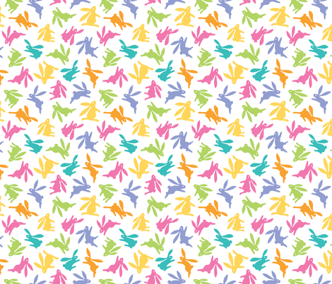 Bunch O Bunnies Bright Colors fabric by margodepaulis on Spoonflower - custom fabric