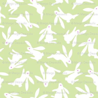 Bunch O Bunnies Green Pastel