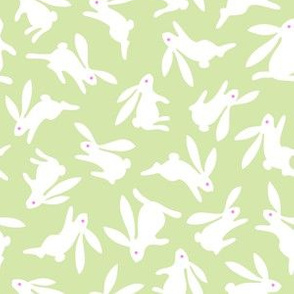 Bunch O Bunnies Green Pastel