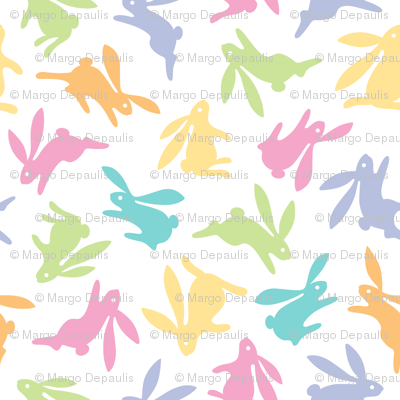 Bunch O Bunnies Pastel Colors