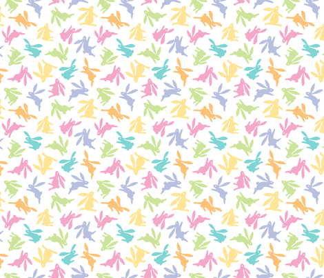 Bunch O Bunnies Pastel Colors fabric by margodepaulis on Spoonflower - custom fabric