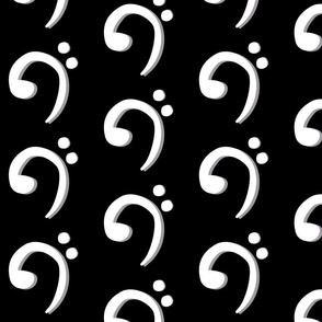 Bass Clef in Black and White