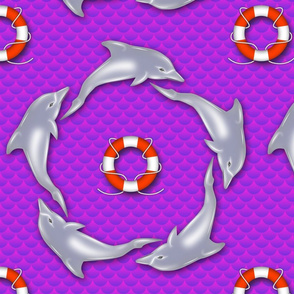 dolphin ring purple