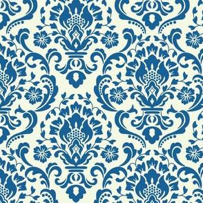 Classic Damask Blue