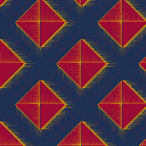The Last Pyramid fabric by david_kent_collections on Spoonflower - custom fabric