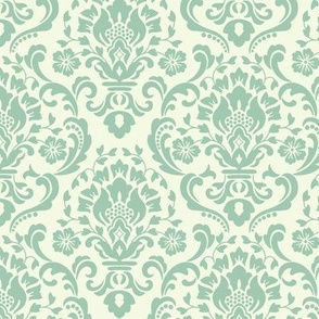 Classic Damask Lime