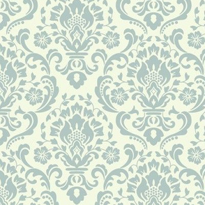 Classic Damask Silver