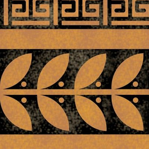 Greek Key Box and Vine Border