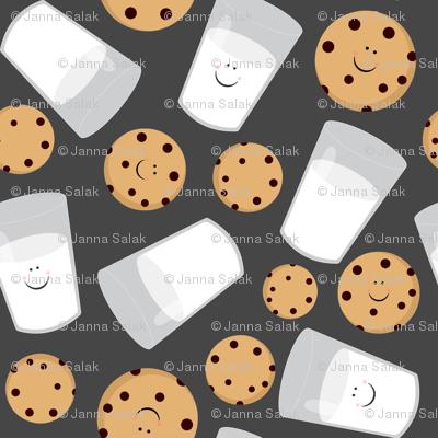 Happy Milk and Cookies Dark Gray