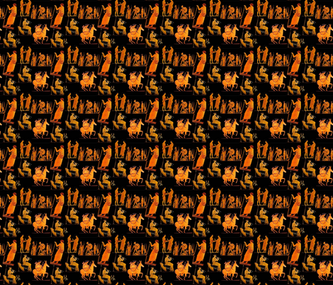 mysterious greek art fabric by i-can-see-your-pixels on Spoonflower - custom fabric