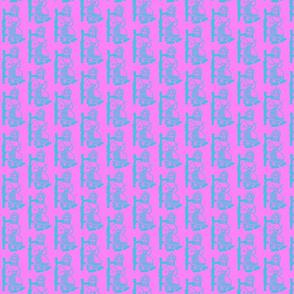 Knitting Granny Blue Hot Pink 2