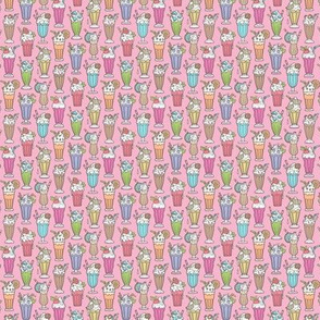 Milkshake on Pink Tiny Small 0,75 inch