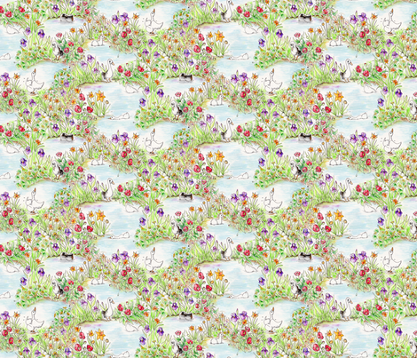 DuckyToile fabric by blairfully_made on Spoonflower - custom fabric