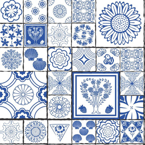 spanish tile blue and white