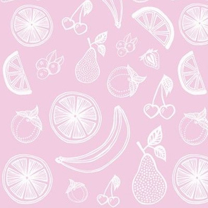 Fruit Salad - White / Pink