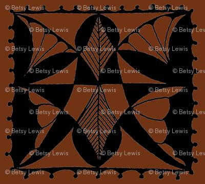 Butterfly Block in Brown