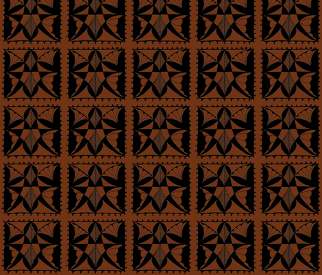 Butterfly Block in Brown fabric by betz on Spoonflower - custom fabric