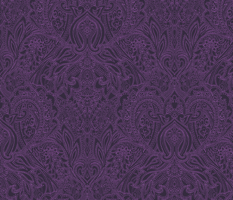 Purple-Paisley-Prince-medium fabric by paisleypower on Spoonflower - custom fabric