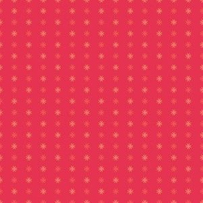Mosaic Print Pink and Orange Stars