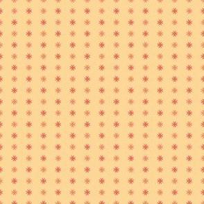 Mosaic Print Yellow and Coral Stars