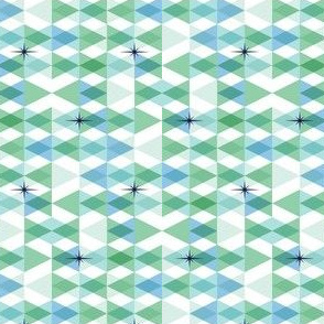 Flags* (Greens) || triangles chevron geometric star stars starburst atomic transparent translucent overlap direction arrow