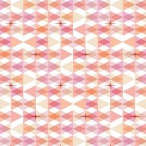 Flags* (Pinks) || triangles chevron geometric star stars starburst atomic transparent translucent overlap direction arrow