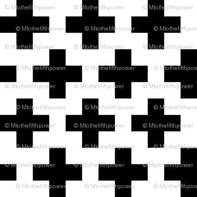 Black Crosses on White