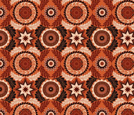Greek Mandalas fabric by willowbirdstudio on Spoonflower - custom fabric