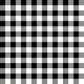 "1/2"" Black + White Buffalo Plaid – Lumberjack Buffalo Check Monochrome"